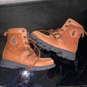 Toddler boy polo boots
